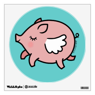 Cute Flying Pig Wall Stickers