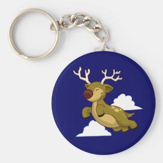 Cute Flying Reindeer Keychain