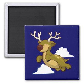 Cute Flying Reindeer Magnet