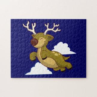 Cute Flying Reindeer Jigsaw Puzzle