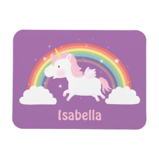 Cute Flying Unicorn and Rainbow Magnet For Girls