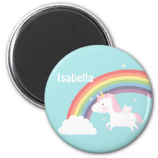 Cute Flying Unicorn Rainbow For Girls Magnet