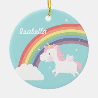 Cute Flying Unicorn Rainbow Girls Room Decor Ceramic Ornament