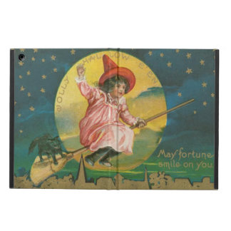 Cute Flying Witch Black Cat Full Moon iPad Air Cover