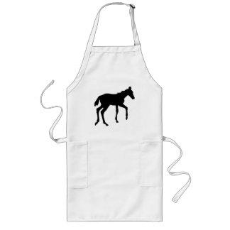 Cute foal horse long apron
