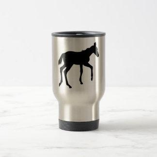 Cute foal horse travel mug