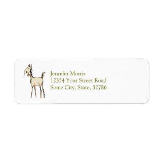 Cute Foal with Flower Return Address Label