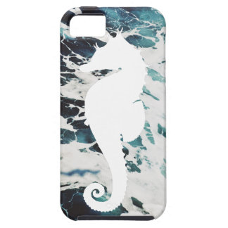 Cute Foamy White Seahorse Barely There Iphone Case