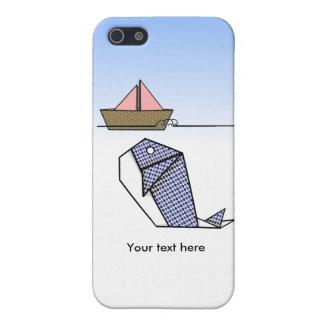 Cute Folder Paper Whale Case For iPhone SE/5/5s
