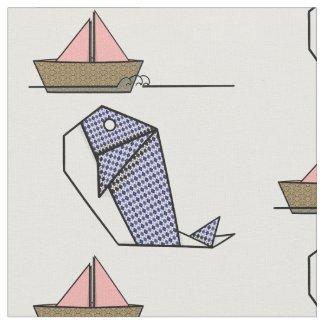 Cute Folder Paper Whale Fabric