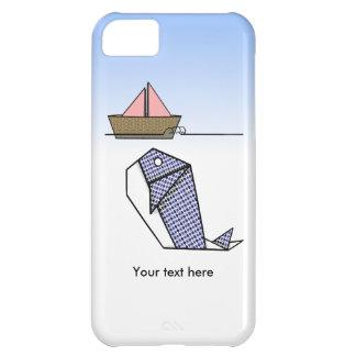 Cute Folder Paper Whale iPhone 5C Case