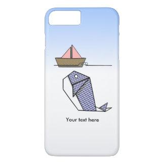 Cute Folder Paper Whale iPhone 8 Plus/7 Plus Case