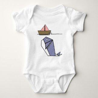 Cute Folder Paper Whale T Shirt