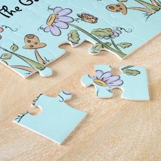 Cute Folk Art Bees Daisies Butterflies Get Well Jigsaw Puzzle