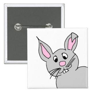 Cute Folk Art Bunny Rabbit Easter Holiday Button