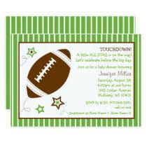 Cute Football Baby Shower Card
