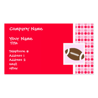 Cute Football Double-Sided Standard Business Cards (Pack Of 100)