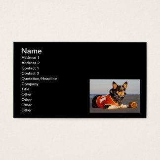 Cute Football Player Business Card