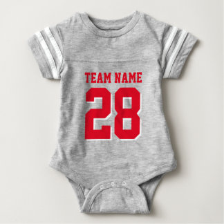 Cute Football Team Jersey Sports Baby Romper