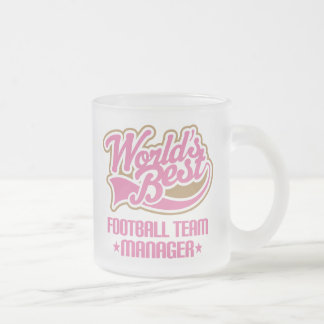 Cute Football Team Manager Frosted Glass Coffee Mug