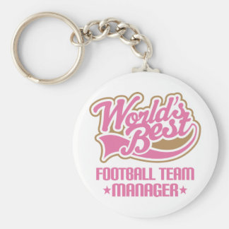 Cute Football Team Manager Basic Round Button Keychain