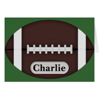 Cute Football with Customizable Name Card