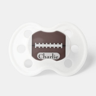 Cute Football with Customizable Name Pacifier