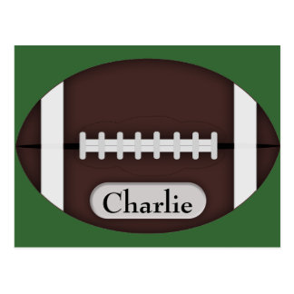 Cute Football with Customizable Name Postcard