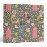Cute Forest Animals Pattern 3 Ring Binder