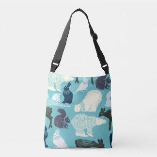 Cute Forest Animals Pattern Crossbody Bag
