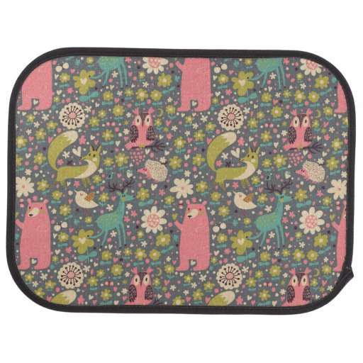 cute forest animals pattern floor mat zazzle Wildlife Coloring Pages Printable  Coloring Floor Pad Wildlife And Patterns