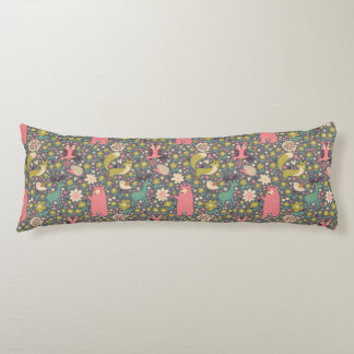 Cute Forest Animals Pattern Body Pillow