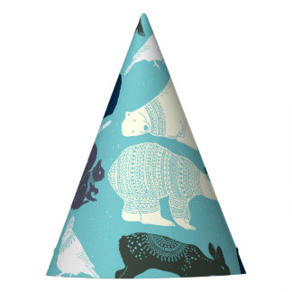 Cute Forest Animals Pattern Party Hat