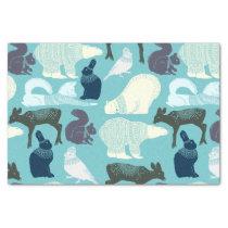 Cute Forest Animals Pattern Tissue Paper