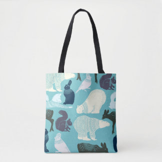 Cute Forest Animals Pattern Tote Bag