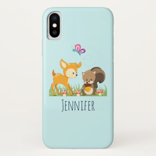 Cute Forest Animals Whimsical Cartoon iPhone X Case