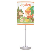 Cute Forest Woodland Animal Kids Room Decor Table Lamp
