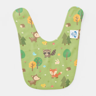 Cute Forest Woodland Animal Pattern For Babies Bib