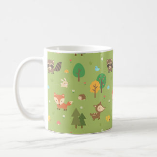 Cute Forest Woodland Animal Pattern For Kids Coffee Mug
