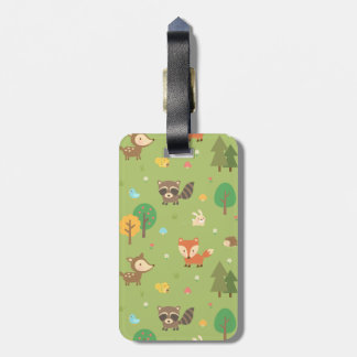 Cute Forest Woodland Animal Pattern For Kids Luggage Tag