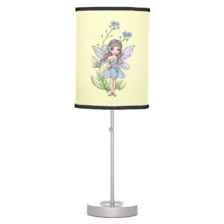 Cute Forget-Me-Not Fairy Fantasy Illustration Desk Lamp