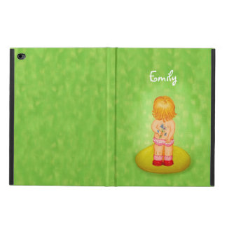Cute Forget Me Not Girl Flower Bouquet With Name Powis iPad Air 2 Case