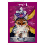 Cute Fortune-Teller Cat greeting card