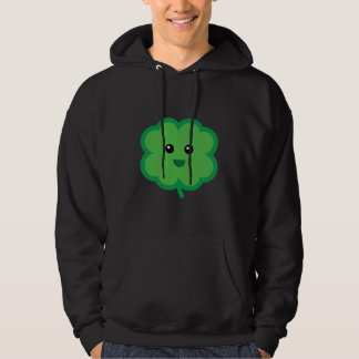 Cute Four Leaf Clover Hooded Pullover