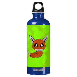 cute fox aluminum water bottle