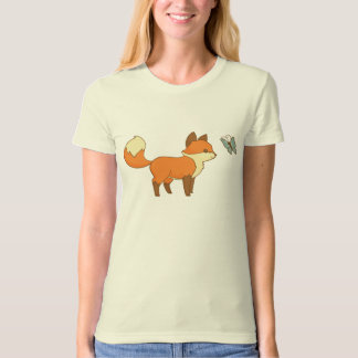 Cute Fox and Friendly Butterfly T-shirt