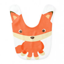 Cute Fox Animal Baby Bib