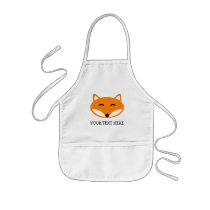 Cute fox apron for kids | personalizable template
