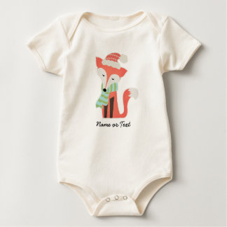 Cute Fox Baby's Christmas Winter Woodland Rustic Baby Bodysuit