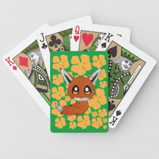cute fox bicycle playing cards